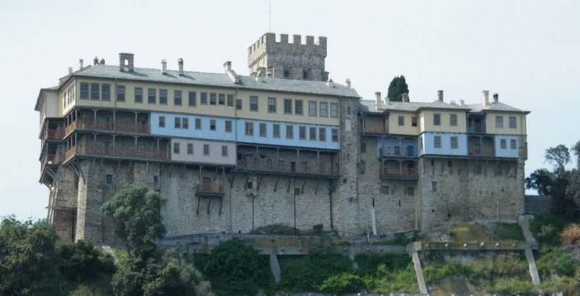Мужской монастырь в греции афон