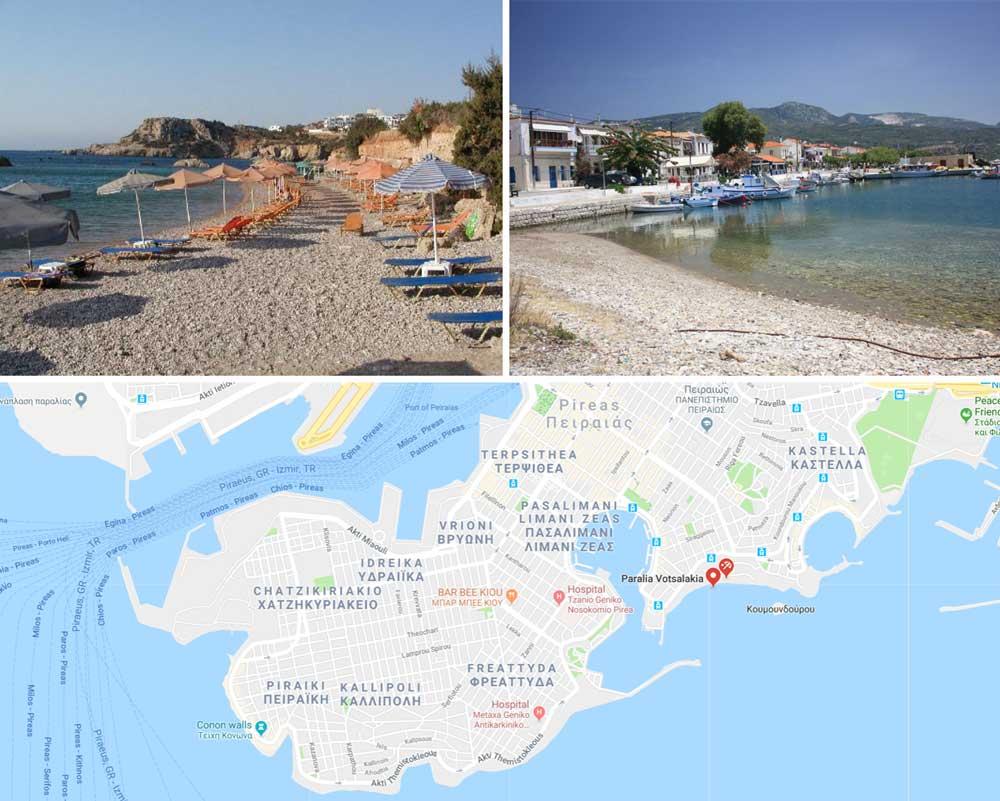 Пирей греция на карте