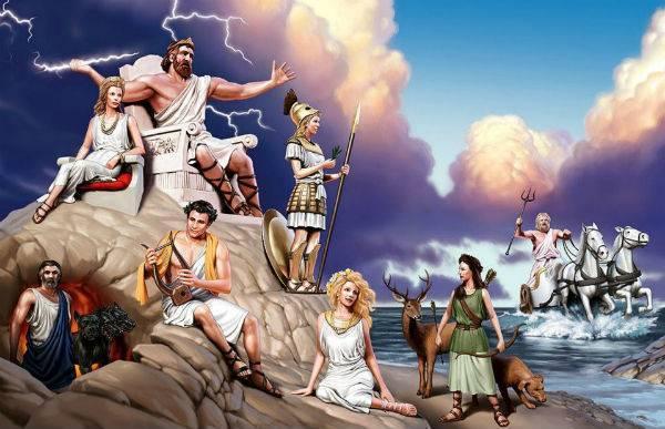 Греческие боги и богини список
