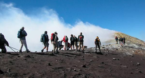 Высота вулкана этна