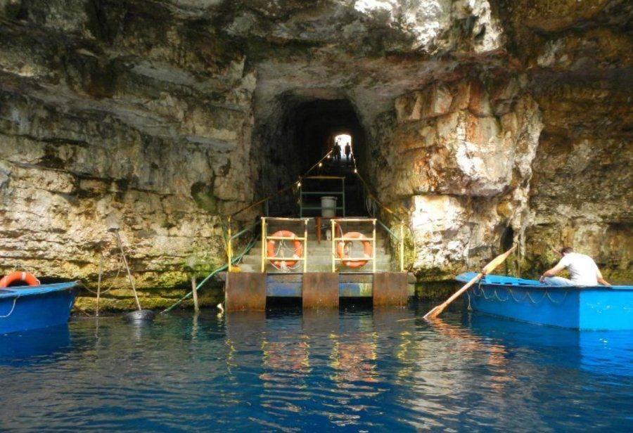 Пещера мелиссани кефалония греция