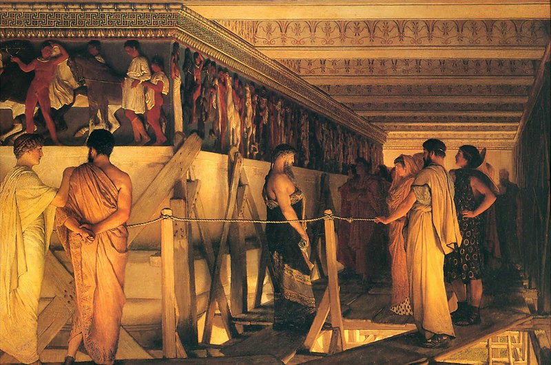 Файл:1868 Lawrence Alma-Tadema - Phidias Showing the Frieze of the Parthenon to his Friends.jpg
