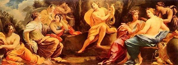 Муза танца в древней греции