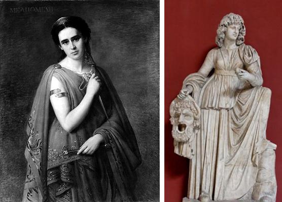 Богиня театра мельпомена