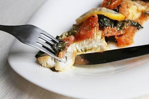 Рыба по гречески рецепт с фото